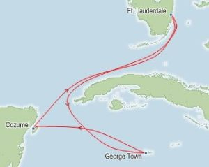 Itinerary MAP for CRM Cruise 2020